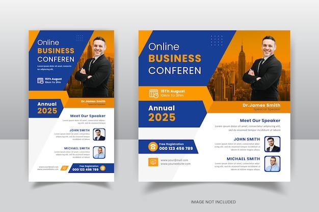 Business conference instagram o social media post modello scenografia