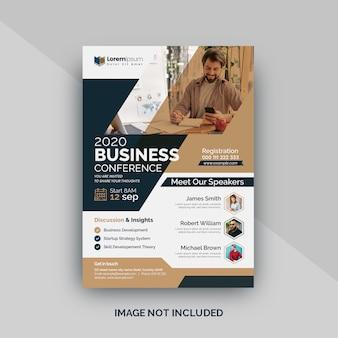 Modello volantino - conferenza d'affari o riunione