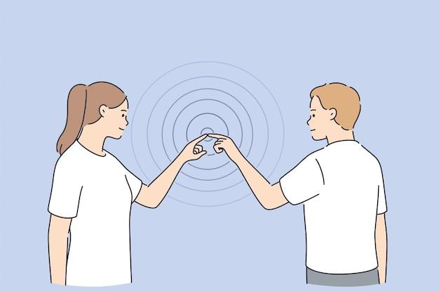 Concetto di intestazione del modello web di connessioni commerciali