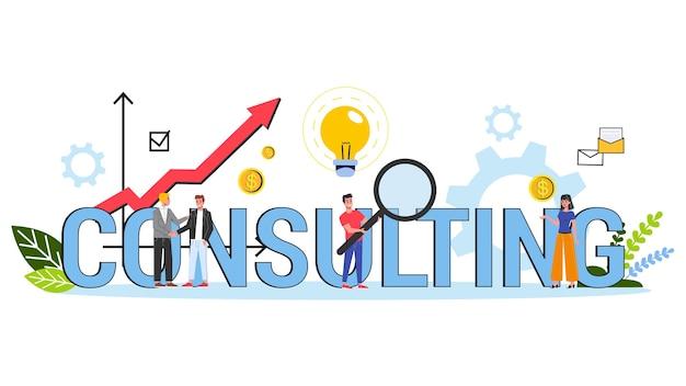 Concetto di consulenza aziendale. idea di gestione della strategia