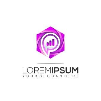 Modello di progettazione del logo commerciale e di consulenza