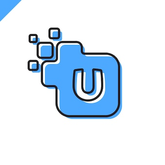 Progettazione corporativa di logo della fonte della lettera quadrata corporativa di affari