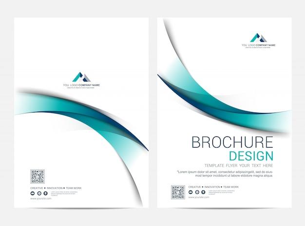 Copertina business e modello di copertina posteriore, design minimale corporativo