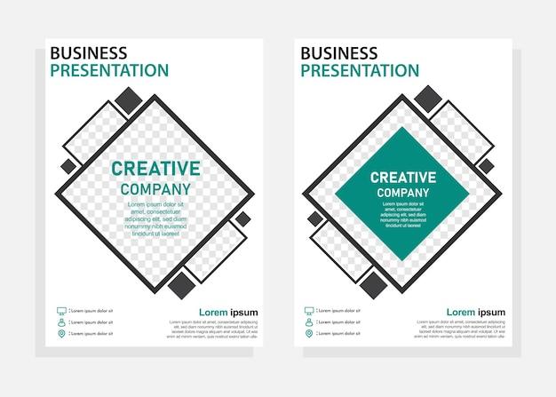 Modello di progettazione di copertina aziendale. volantino, modello di progettazione brochure. perfetto per il marketing aziendale, la promozione, la presentazione. vettore modificabile