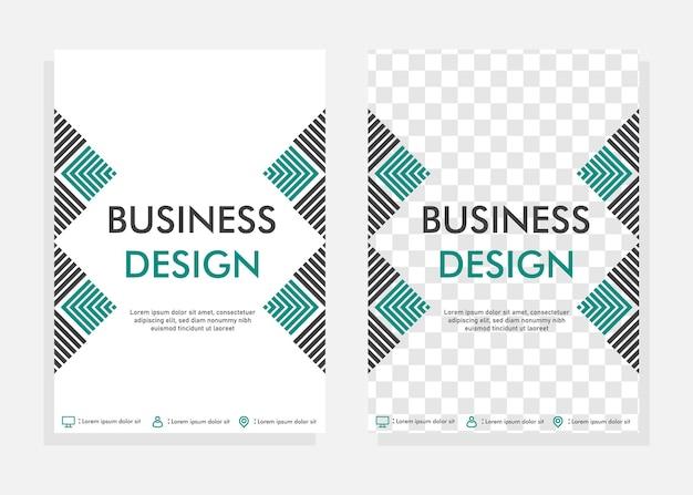 Modello di progettazione di copertina aziendale. modello di progettazione volantino. perfetto per il marketing aziendale, la promozione e la presentazione. vettore modificabile.
