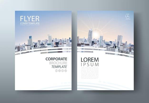 Copertura aziendale, modello di volantino. layout in formato a4.