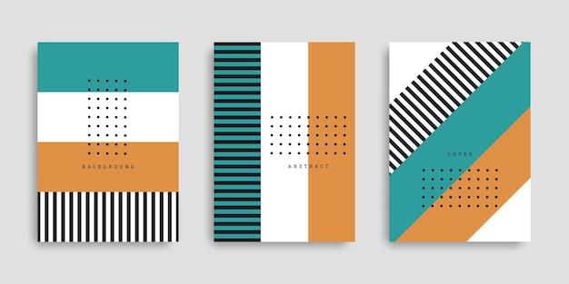 Set copertina aziendale a righe colorate