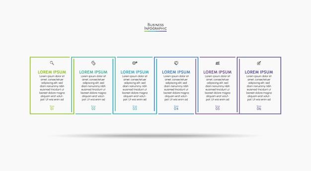 Modello di sfondo infografico per la visualizzazione dei dati aziendali