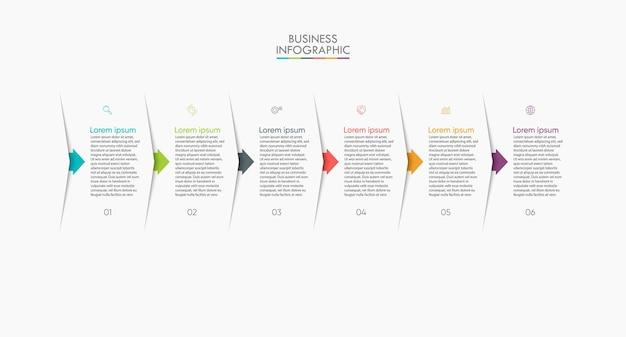 Modello di infografica visualizzazione dati aziendali