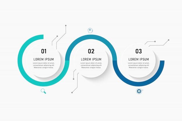 Visualizzazione dei dati aziendali. grafico di processo. elementi astratti del grafico, diagramma con passaggi, opzioni, parti o processi. modello di affari. concetto creativo per infografica.