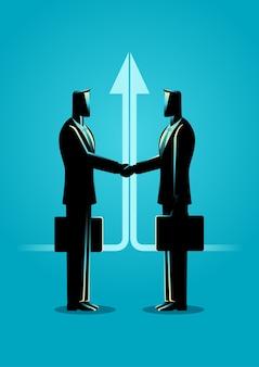 Illustrazione di concetto di affare di affari