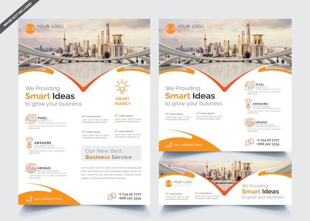 Modello di progettazione aziendale Vettore Premium