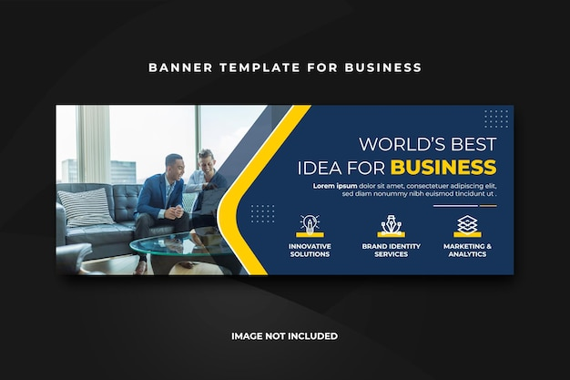 Progettazione di banner aziendali di facebook Vettore Premium