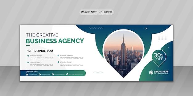Design di foto di copertina di facebook aziendale o design di banner web Vettore Premium