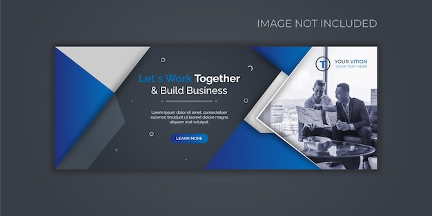 Banner di post sui social media per la copertina di facebook aziendale