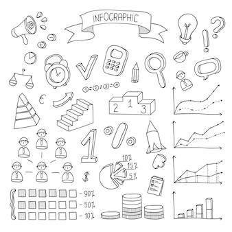 Affari e finanza elementi di design disegnati a mano