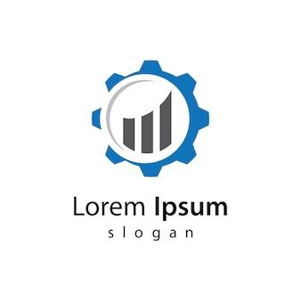 Illustrazione di progettazione di logo di finanza aziendale