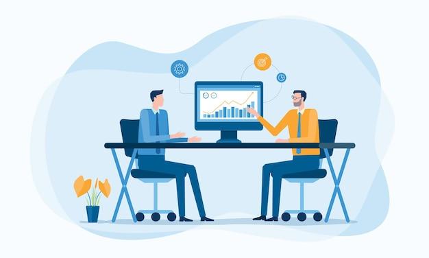 Consulente finanziario aziendale e concetto di pianificazione degli investimenti aziendali