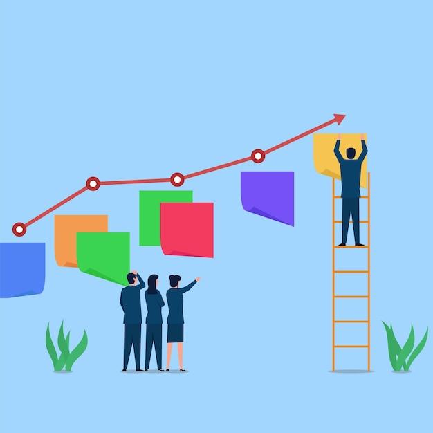 Illustrazione di concetto di vettore piatto di affari