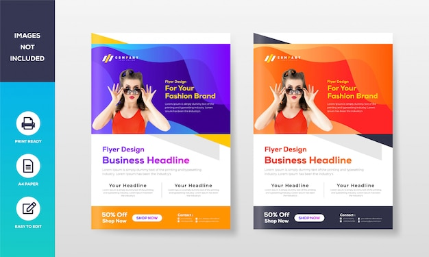 Modello di business flyer a4