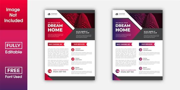 Progettazione di volantini aziendali per design di volantini multiuso in formato a4