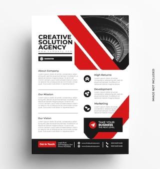 Brochure modello di volantino aziendale con foto