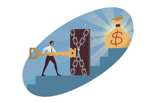 Affari, raggiungimento degli obiettivi, profitto in denaro.