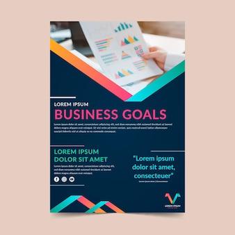 Modello di volantino obiettivi aziendali