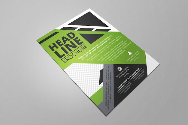 Business green flat flayer