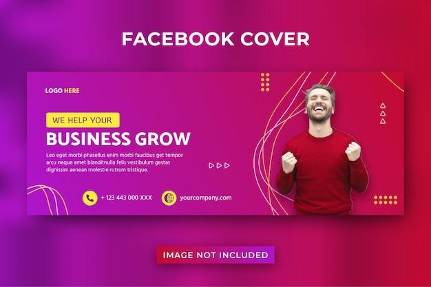 Il business fa crescere la copertina di facebook Vettore Premium