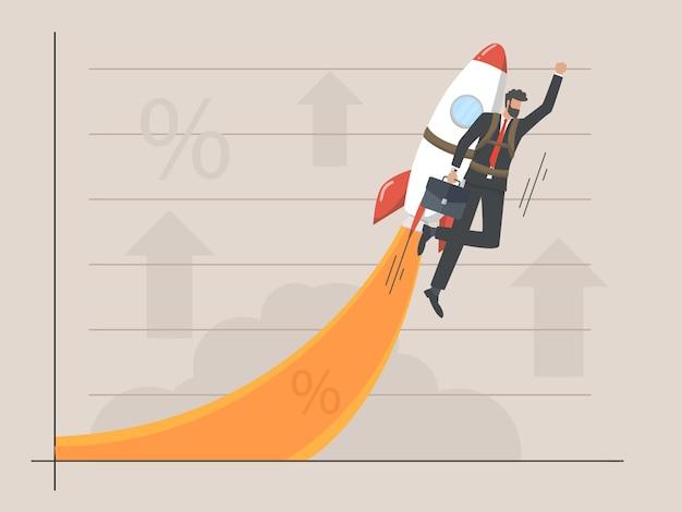 Concetto di curva di crescita aziendale