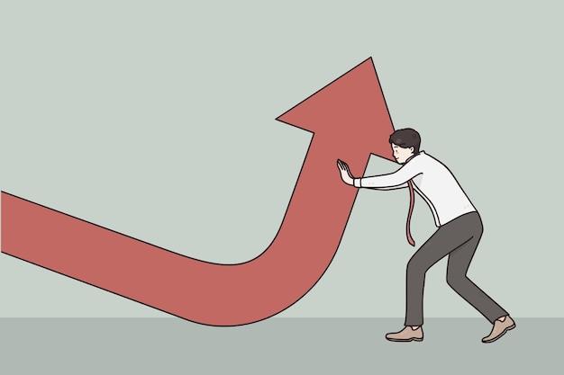 Illustrazione di crescita aziendale