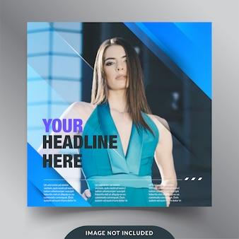 Banner social media di moda evidenziare il business