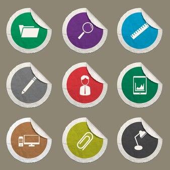 Set di icone aziendali per siti web e interfaccia utente