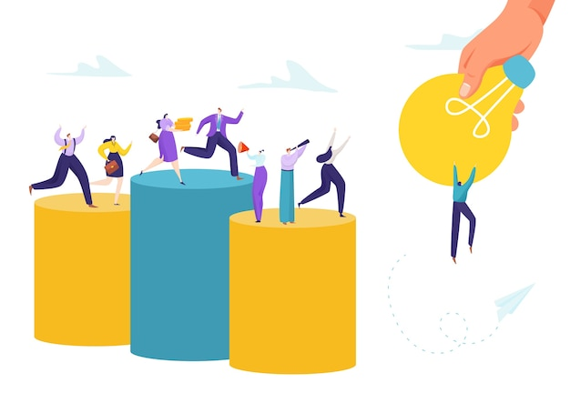 Concetto di successo idea aziendale