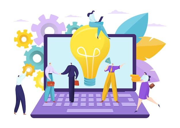 Concetto creativo di lavoro di squadra idea di affari