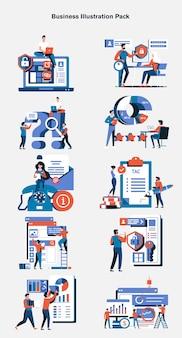 Pacchetto di illustrazioni aziendali