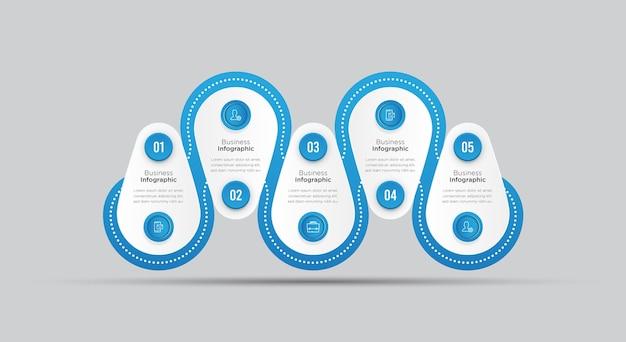 Modello di banner di affari infografica