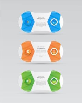 Banner di affari infografica