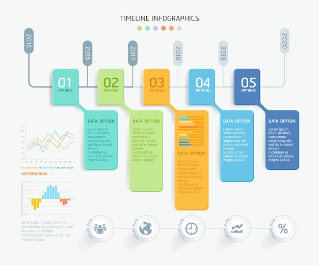 Modello di elementi di business infografica