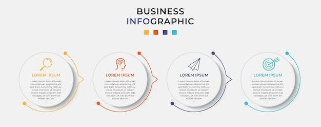 Infografica aziendale nelle opzioni