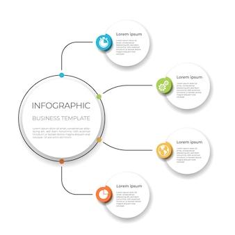 Opzioni del modello di business infografica.