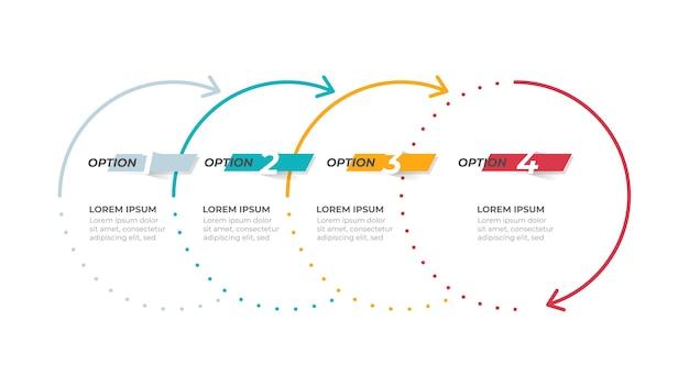 Cronologia del modello di infografica aziendale