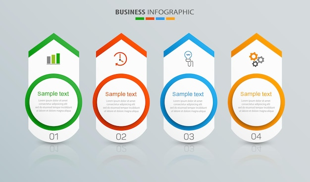 Modello di business infografica con 4 opzioni