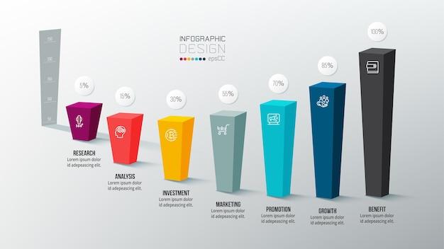 Modello di infografica aziendale con grafico