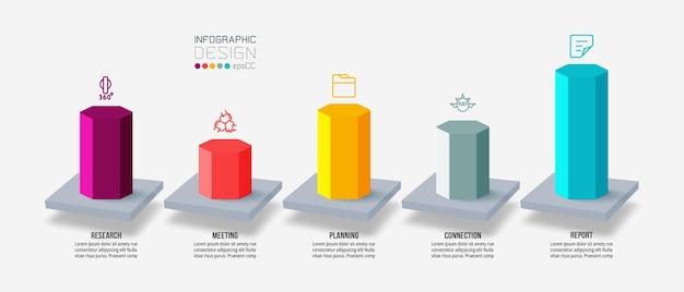 Modello di infografica aziendale con opzione