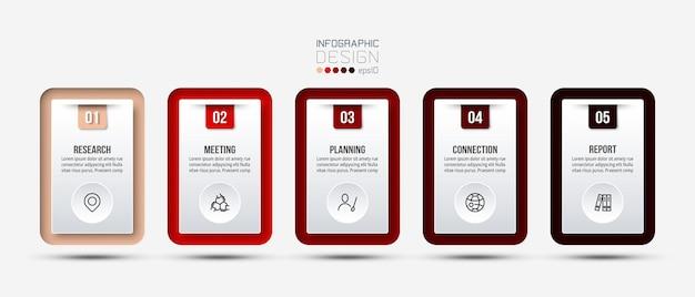 Modello di infografica aziendale con opzioni