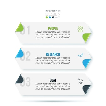 Modello di infografica aziendale con design a gradini o opzioni