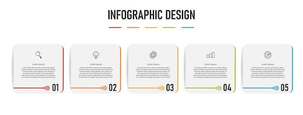 Modello di business infografica con passaggi
