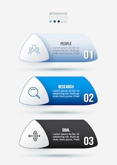 Modello di infografica aziendale con flusso di lavoro